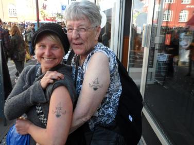 me n carol; tatooed