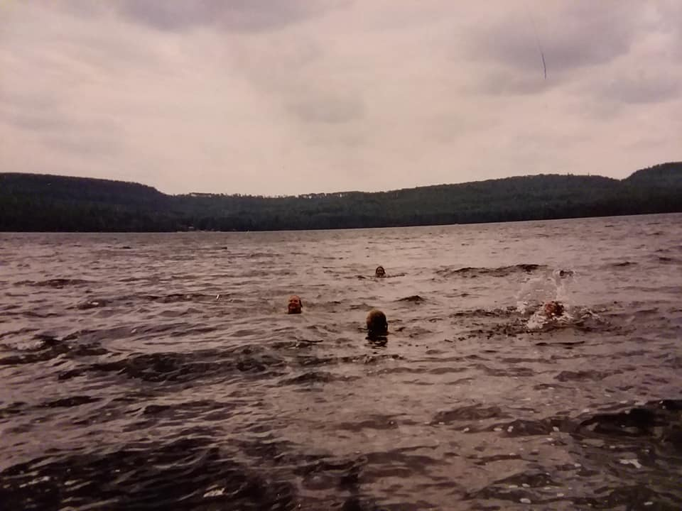 swimming to canada